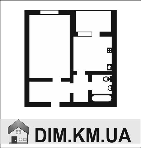 Продаж | Квартири - Хмельницький,  Старакостянтинівське шосе Цiна: 6 300грн.(за кв. м.) 229 $186 €(за курсом НБУ) Кількість кімнат:  1 Площа:  44/20/15 кв.м. - Квартири на DIM.KM.UA