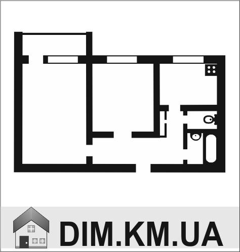 Продаж | Квартири - Хмельницький,  Гречани ближні,  Проскурiвського пiдпiлля вул. Цiна: 450 000грн. 17 099 $14 409 €(за курсом НБУ) Кількість кімнат:  2 Площа:  49/26/7 кв.м. - Квартири на DIM.KM.UA