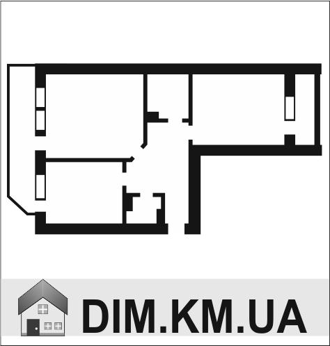 Продаж | Квартири - Хмельницький,  Центр,  Кам'янецька, філармонія Цiна: 370 000грн. торг13 474 $10 928 €(за курсом НБУ) Кількість кімнат:  2 Площа:  45/28/6 кв.м. - Квартири на DIM.KM.UA