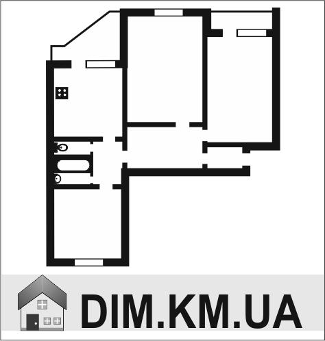Продаж | Квартири - Хмельницький,  Миру проспект (костьол) Цiна: 475 000грн. торг17 740 $15 769 €(за курсом НБУ) Кількість кімнат:  2 Площа:  48 кв.м. - Квартири на DIM.KM.UA
