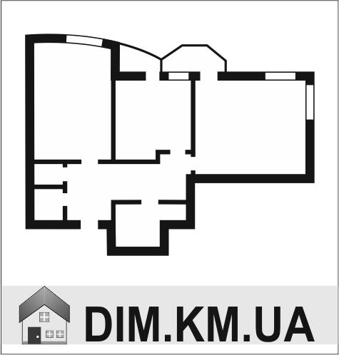 Продаж | Квартири - Хмельницький,  Центр Цiна: 504 000грн. торг18 606 $16 405 €(за курсом НБУ) Кількість кімнат:  2 Площа:  48/30/8 кв.м. - Квартири на DIM.KM.UA