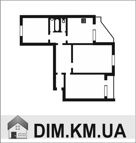 Продаж | Квартири - Хмельницький,  Гречани ближні,  Чкалова Цiна: 595 000грн. торг22 719 $18 921 €(за курсом НБУ) Кількість кімнат:  3 Площа:  65 кв.м. - Квартири на DIM.KM.UA