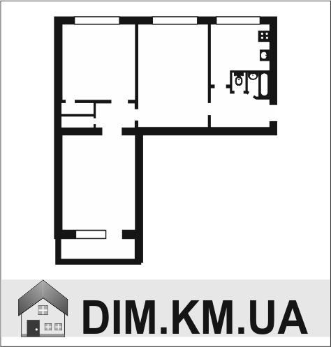 Продаж | Квартири - Хмельницький,  Залізняка вул. Цiна: 559 000грн. торг20 877 $18 558 €(за курсом НБУ) Кількість кімнат:  3 Площа:  75/42/10 кв.м. - Квартири на DIM.KM.UA