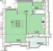 Продаж | Квартири - Хмельницький Цiна: 372 600грн. торг14 256 $12 256 €(за курсом НБУ) Кількість кімнат:  1 Площа:  42 кв.м. - Квартири на DIM.KM.UA