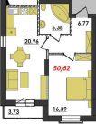 Продаж | Квартири - Хмельницький,  Озерна,  Термінво Цiна: 7 600грн.(за кв. м.) 286 $262 €(за курсом НБУ) Кількість кімнат:  1 Площа:  50.62 кв.м. - Квартири на DIM.KM.UA