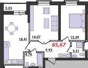 Продаж | Квартири - Хмельницький,  Озерна,  Терміново Цiна: 7 600грн.(за кв. м.) 286 $262 €(за курсом НБУ) Кількість кімнат:  2 Площа:  65.67 кв.м. - Квартири на DIM.KM.UA