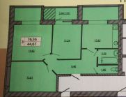 Продаж | Квартири - Хмельницький,  Кармелюка Цiна: 309 500грн. 11 074 $9 746 €(за курсом НБУ) Кількість кімнат:  1 Площа:  43/18/16 кв.м. - Квартири на DIM.KM.UA