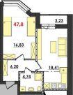 Продаж | Квартири - Хмельницький,  Озерна,  Панаса Мирного вул. Цiна: 7 400грн.(за кв. м.) 279 $255 €(за курсом НБУ) Кількість кімнат:  1 Площа:  47.8 кв.м. - Квартири на DIM.KM.UA