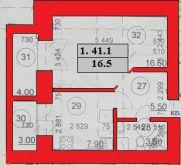 Продаж | Квартири - Хмельницький,  Тернопільська вул. Цiна: 12 800грн. 482 $441 €(за курсом НБУ) Кількість кімнат:  1 Площа:  41.1/16.5/7.9 кв.м. - Квартири на DIM.KM.UA