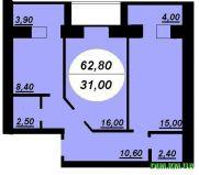 Продаж | Квартири - Хмельницький,  Заготзерно,  Терміново Цiна: 6 500грн.(за кв. м.) 255 $217 €(за курсом НБУ) Кількість кімнат:  2 Площа:  62.8 кв.м. - Квартири на DIM.KM.UA
