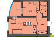 Продаж | Квартири - Хмельницький,  Центр Цiна: 10 500грн.(за кв. м.) 397 $353 €(за курсом НБУ) Кількість кімнат:  1 Площа:  43/18/14 кв.м. - Квартири на DIM.KM.UA