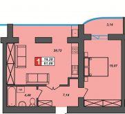 Продаж | Квартири - Хмельницький,  Центр Цiна: 10 250грн.(за кв. м.)  (торг, обмін)383 $340 €(за курсом НБУ) Кількість кімнат:  1 Площа:  61 кв.м. - Квартири на DIM.KM.UA